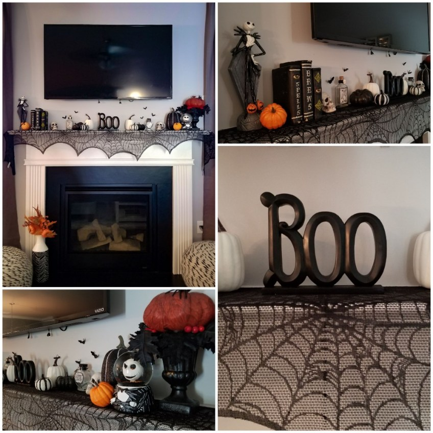 Halloween Favorites, Halloween Decor, Halloween mantle