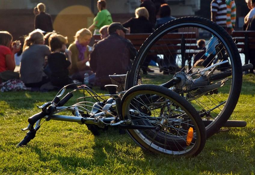 Riverside bikes in Frankfurt Germany