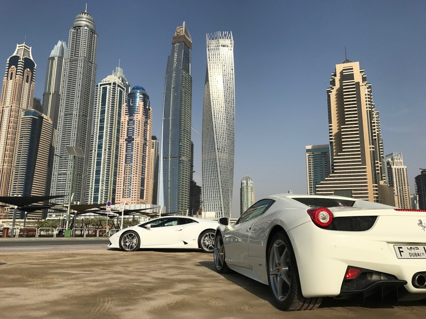 Farrari in Dubai, visiting dubai for the first time