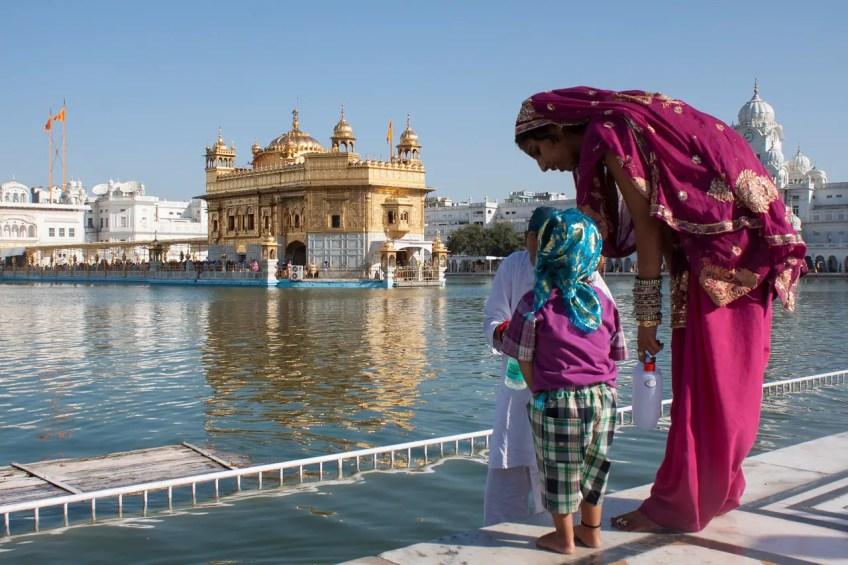 Amritsar woman and child