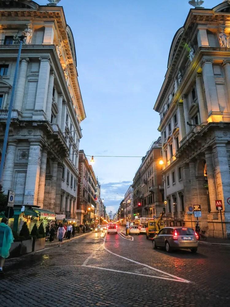 via nazionale in Rome, Italy