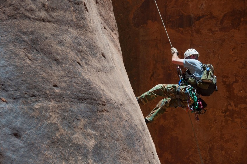 adventure sports, rock climbing, rappelling