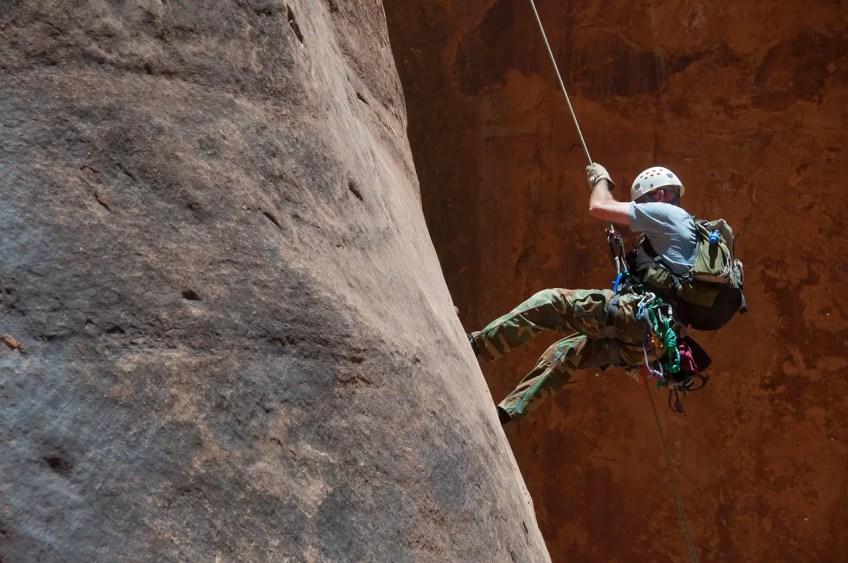 adventure sports, rock climbing, rappelling