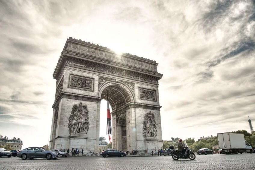 Arc de Triomphe, Eiffel Tower, Paris, France