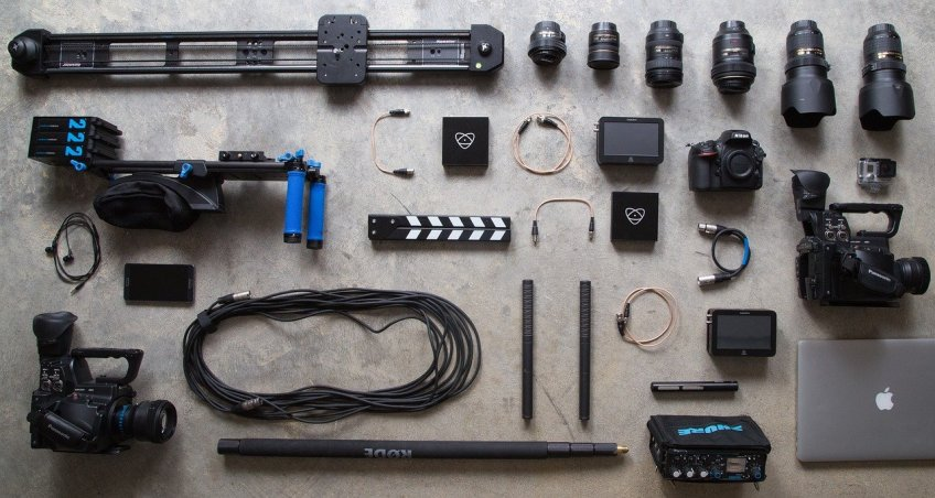travel video equipment, camera, lenses