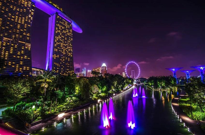 famous casino, marina bay sands, singapore