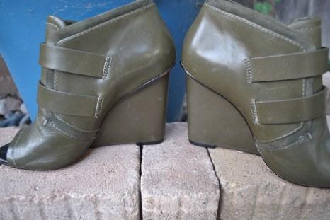 vintage handbag and shoe green 053
