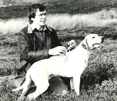 Ben Long with dog in 1980s