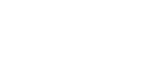 logo the falconry school in white