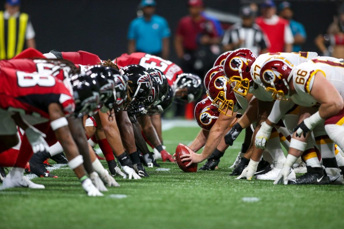 Watch: Falcons coach Dan Quinn talks line play in loss to Washington