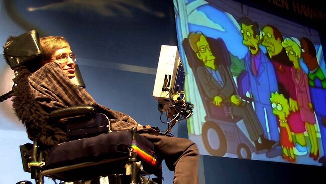 Stephen Hawking 'the man' observes a social construction of Stephen Hawking: Genius Professor Oman episode of The Simpsons.