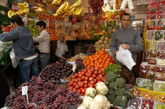 fruit and vegetable shop iran