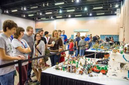 View of the crowd for our Winter Village MOC