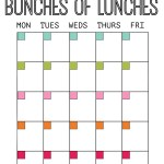 [FREE download] Lunch Planning Sheet