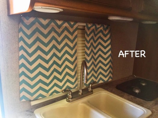 diy almost no sew curtains for rv or