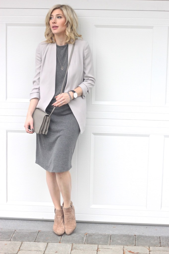 grey and neutral mix - casual chic look