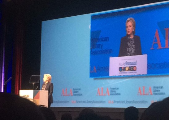 Hillary Clinton at ALA conference