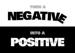 Negative Positive by Dan White 2010 at Flickr.
