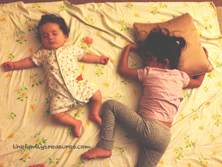 siblings sleeping