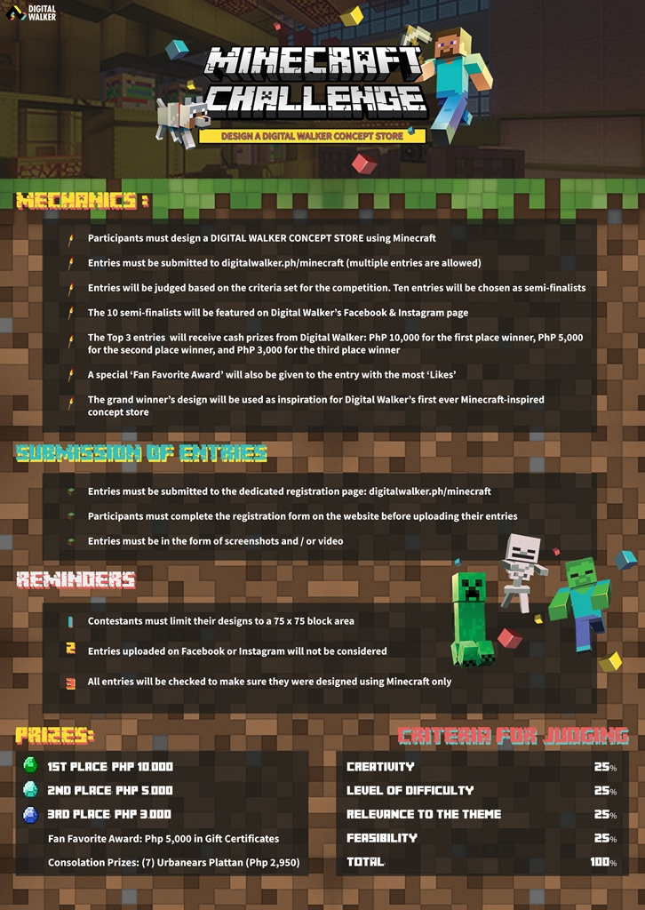 Digital Walker Minecraft Challenge Contest Mechanics (1)