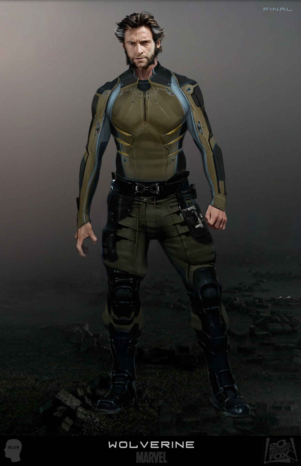 x-men days of future past wolverine concept art joshua james (1)