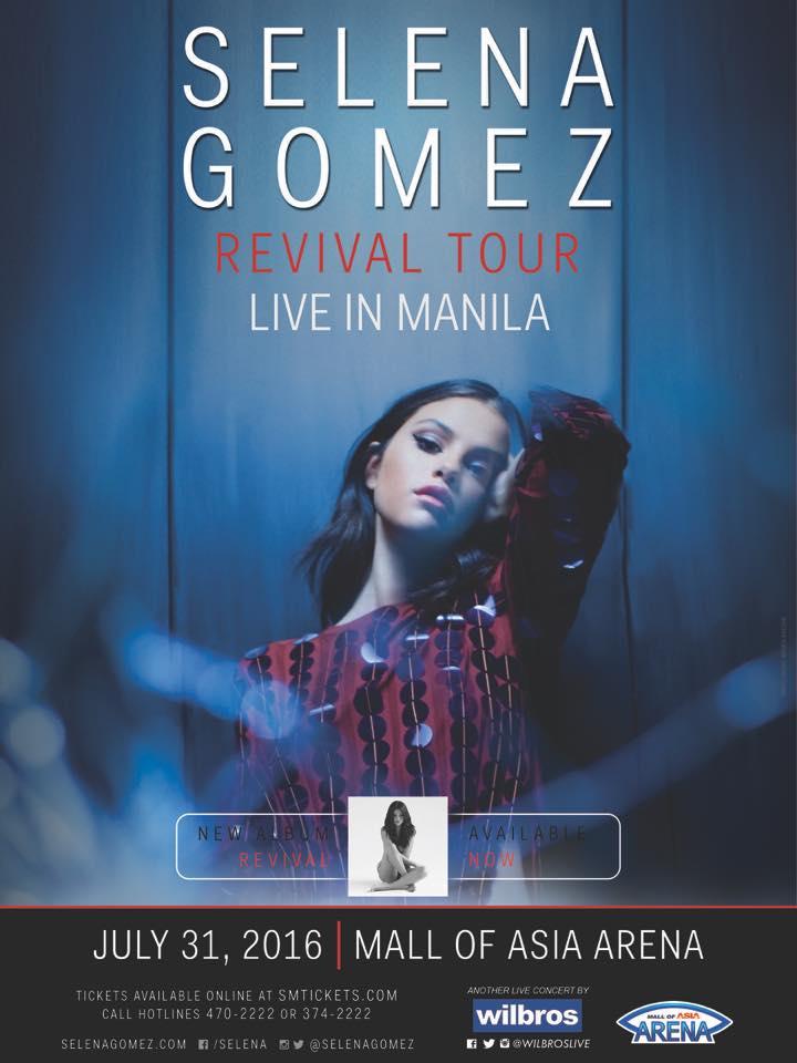 selena gomez revival tour live in manila 2016