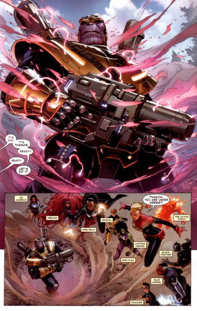 civil war II FCBD Thanos attacks project pegasus