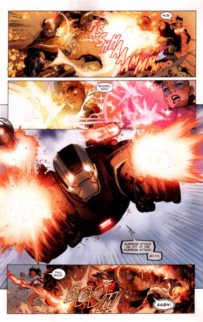 civil war II FCBD War machine attacks Thanos