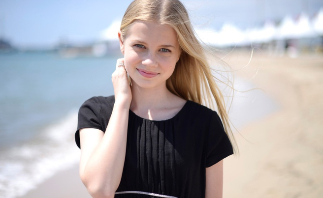 Angourie Rice during a portrait session for These Final Hours at the 67th international film festival, Cannes, southern France, Tuesday, May 20, 2014. (Photo by Arthur Mola/Invision/AP)