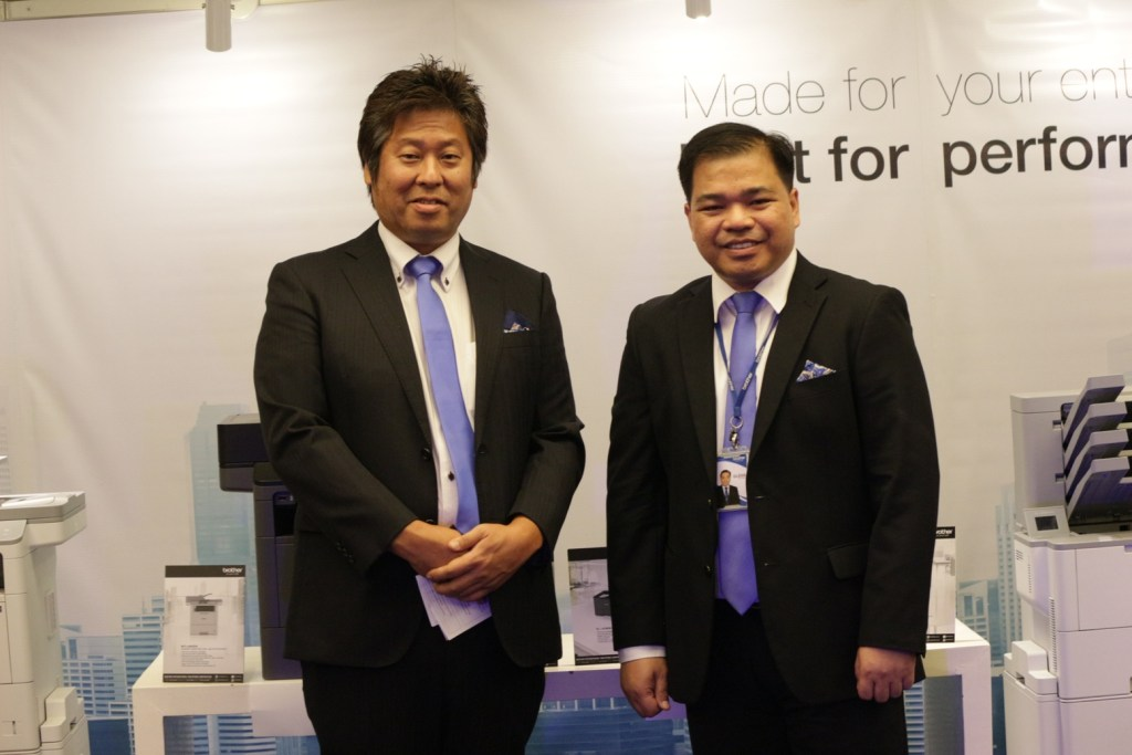 Brother Philippines Sales and Marketing Deputy General Manager Mr. Masao Kasagi and Brother Philippines President Mr. Glenn Hocson