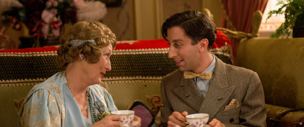 meryl streep and simon helberg in FLORENCE FOSTER JENKINS