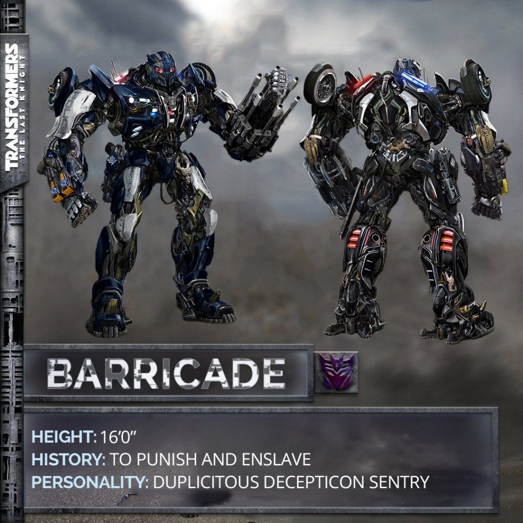barricade transformers the last knight