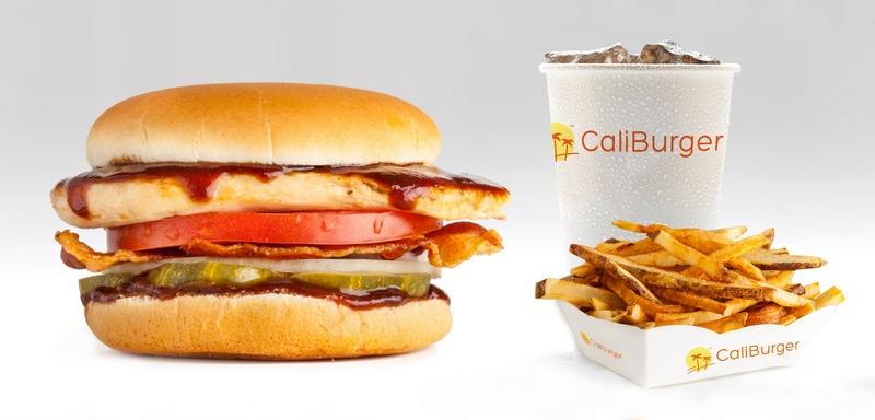 Caliburger Combo BBQ Chicken Burger