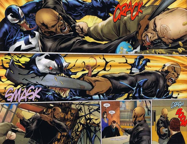 luke cage beats the dark avengers with the wrecker crowbar