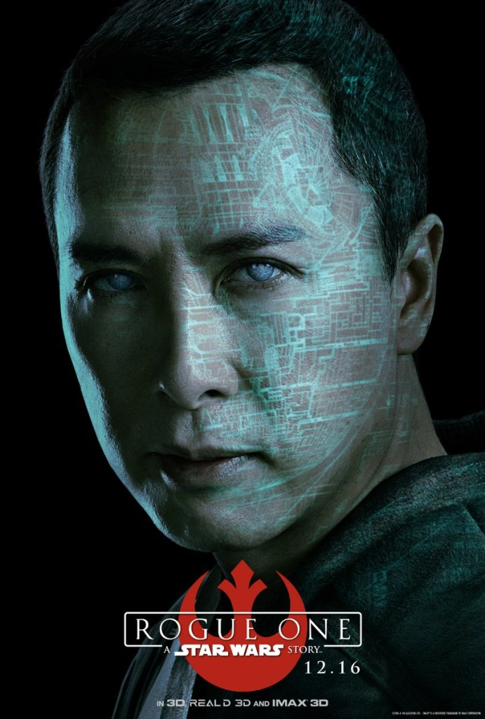 Chirrut Îmwe. A warrior monk with faith in the Force. #RogueOne