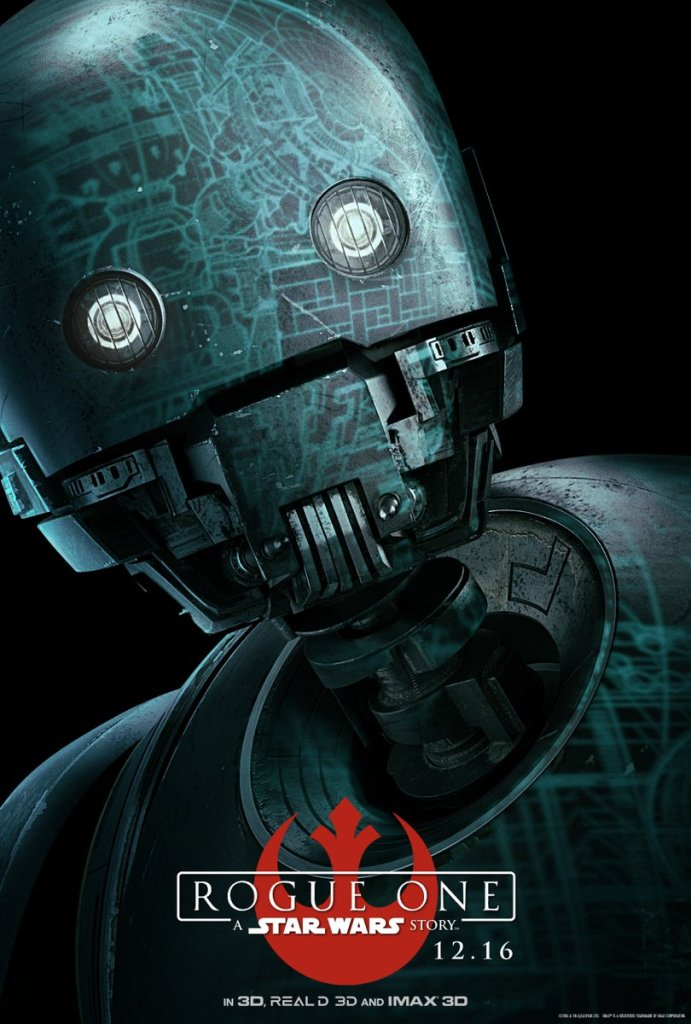 K-2SO. Reprogrammed to fight the Empire that made him. #RogueOne