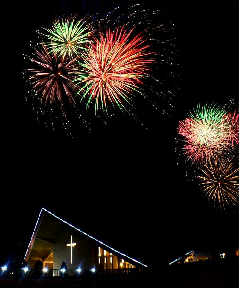 church-with-fireworks-lancaster-new-city-cavite
