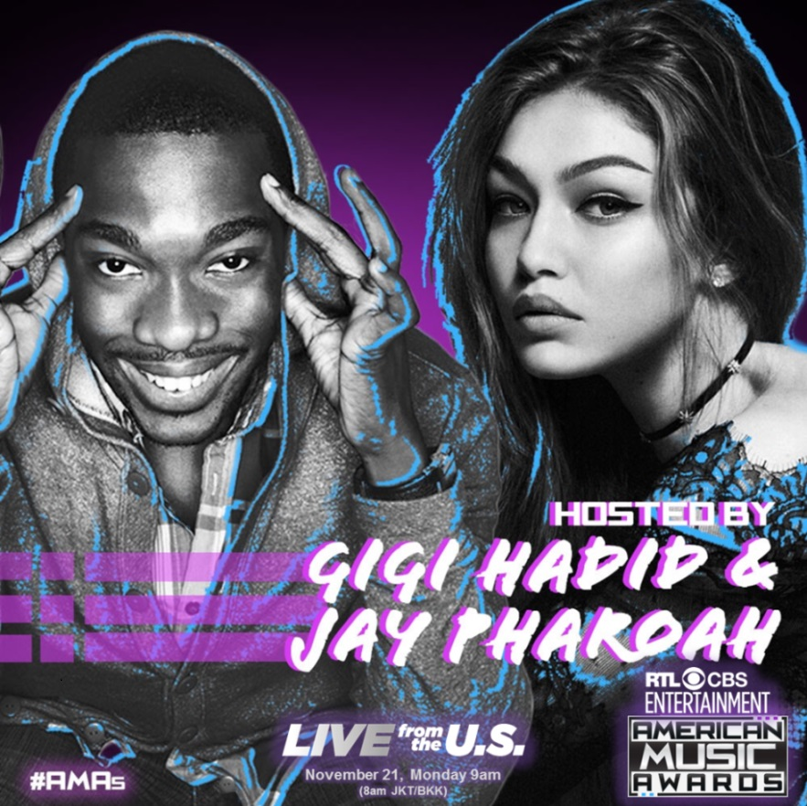 american-music-awards-2016-jay-pharoah-and-gigi-hadid