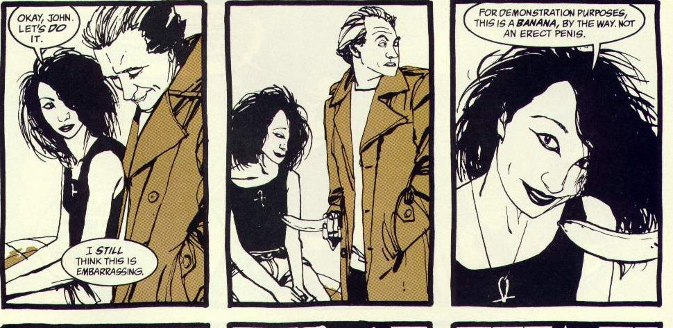 That Time Death of the Endless Talked About HIV and Condoms with John Constantine