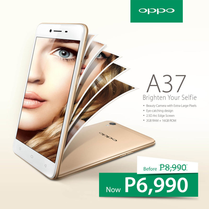 OPPO A37 Now Priced at P6,990 (5MP Front Camera +BSI) - The