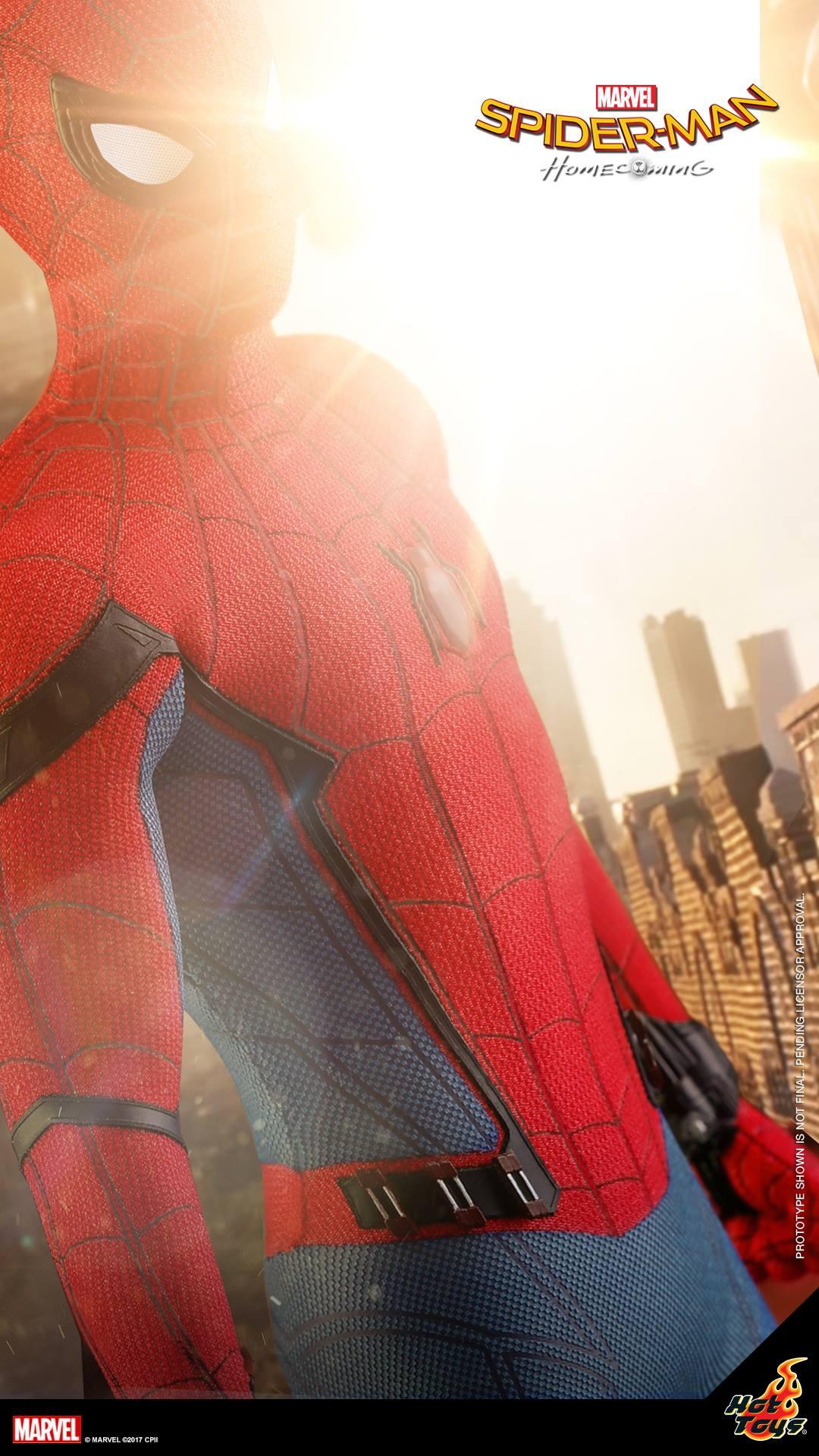 hot toys spider-man mcu
