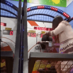 TRENDING: Girl Finds Embarassing Way to Play Arcade Basketball Game