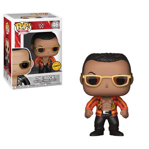 wwe funko pop the rock chase variant