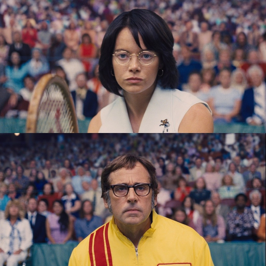 Emma Stone & Steve Carrell in BATTLE OF THE SEXES
