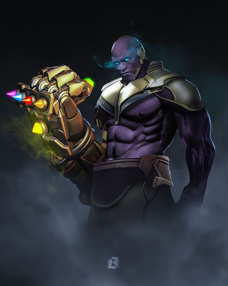 doomfist as Thanos