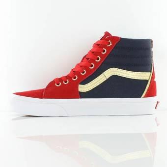 2feb0ead4245d1 Vans Captain Marvel SK8-Hi Shoes Preview - The Fanboy SEO