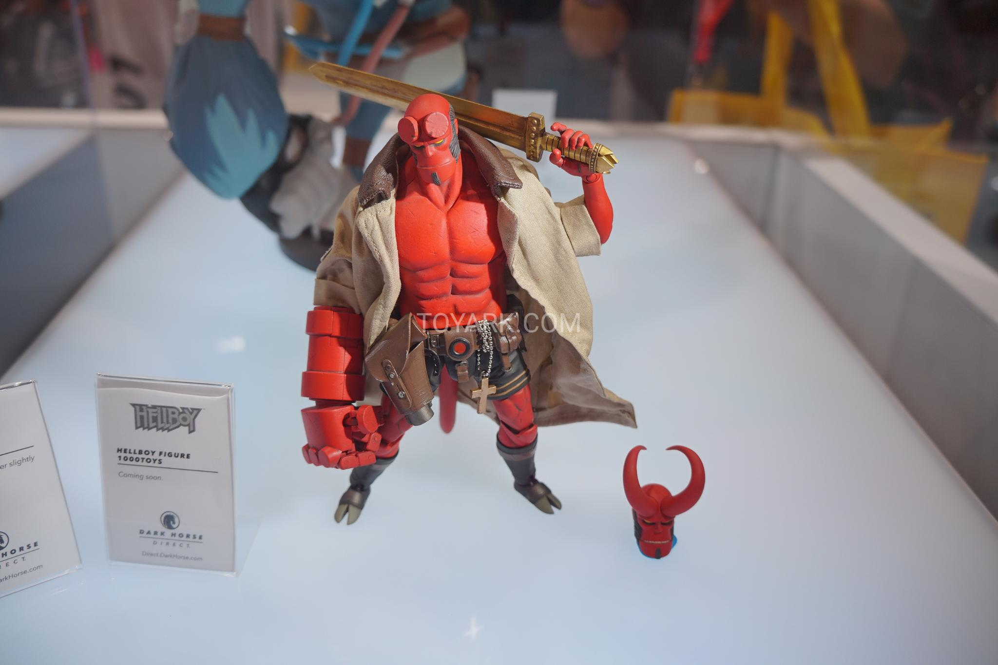 Sdcc 2018 Dark Horse Direct 1 12th Scale Hellboy Action Figure Funko Pop Comics In Suit Meanwhile Here Are Photos From Toyark The Displays