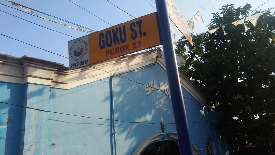 LOOK: Streets in Davao Named After Goku and Other Dragon Ball Characters