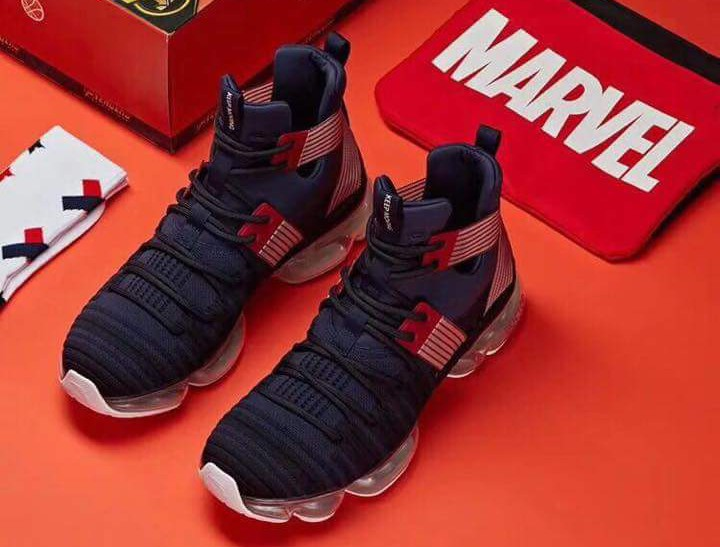 4745a4d9cb Anta Unveils Marvel Inspired Shoes Featuring Cap
