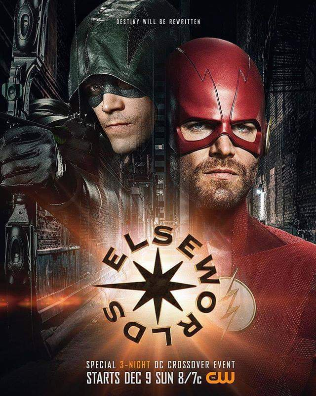 New Poster for CW Elseworlds Reveals Oliver Queen as The Flash